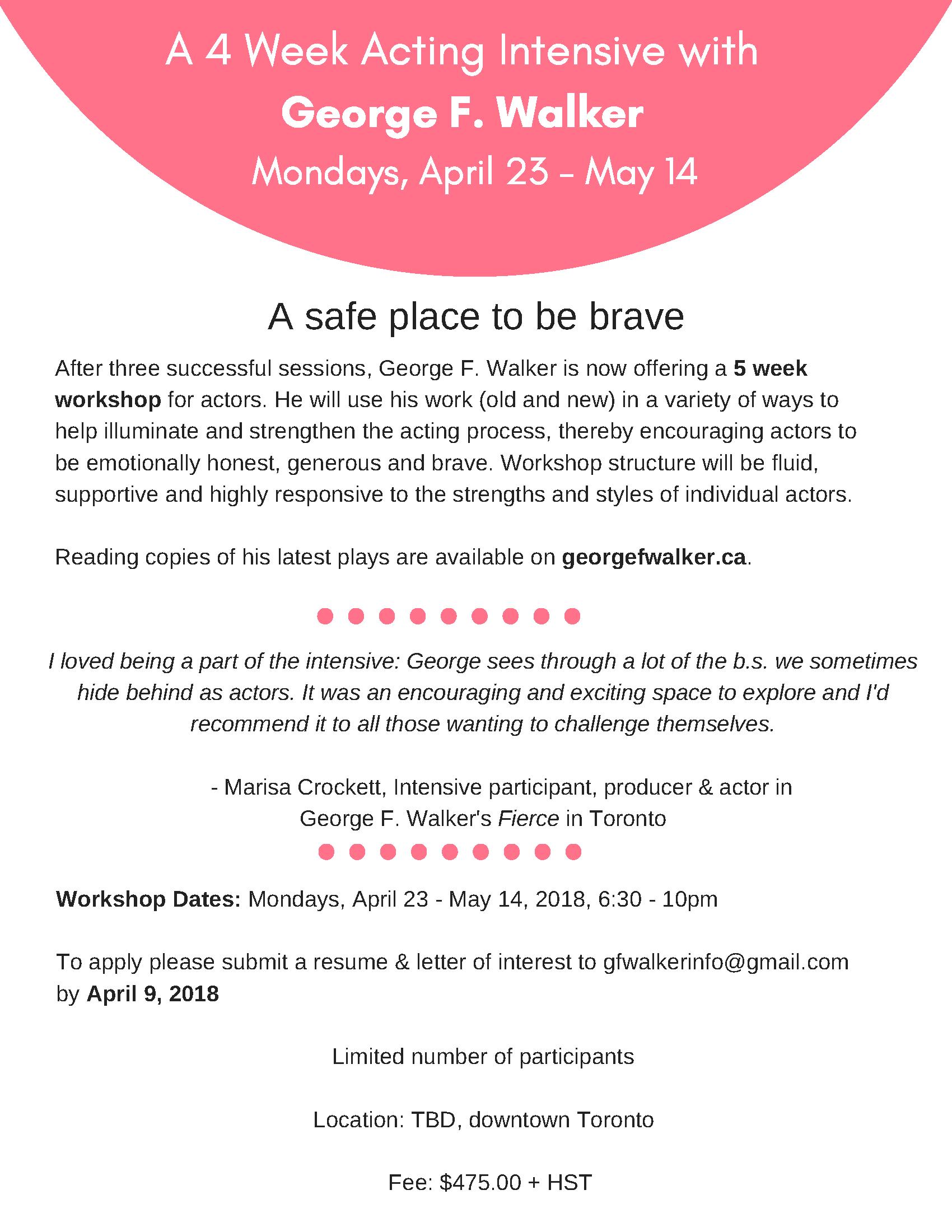 April_May 2018 Intensive